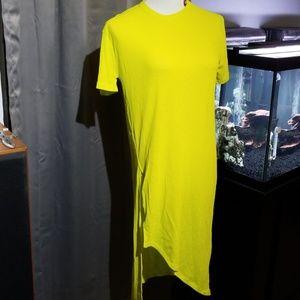 --SOLD--Zara top with asymmetrical hem